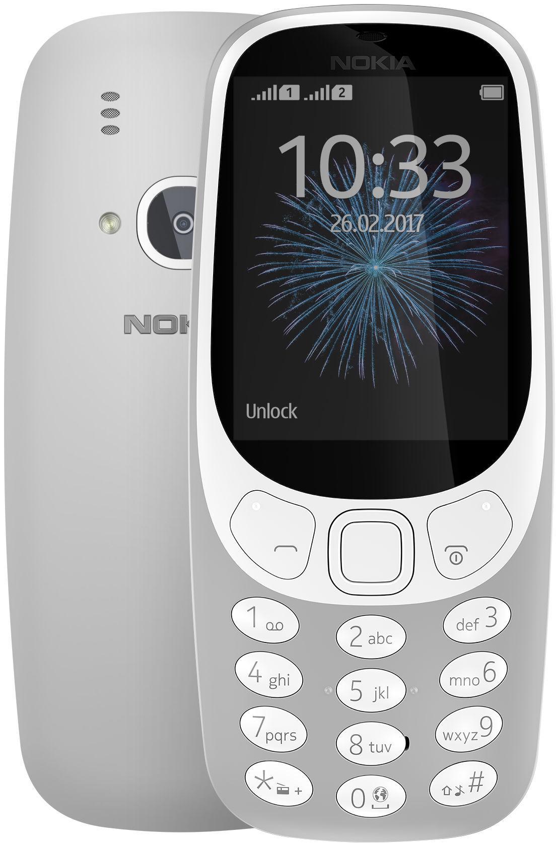 Nokia 3310 Dual Sim grey ENG/RUS