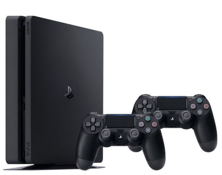 Sony Playstation 4 Slim 1TB (PS4) Black + 2 Duals..