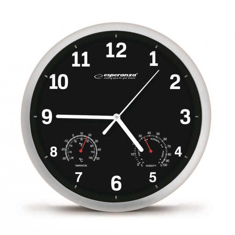 Esperanza Wall Clock LYON black EHC016K