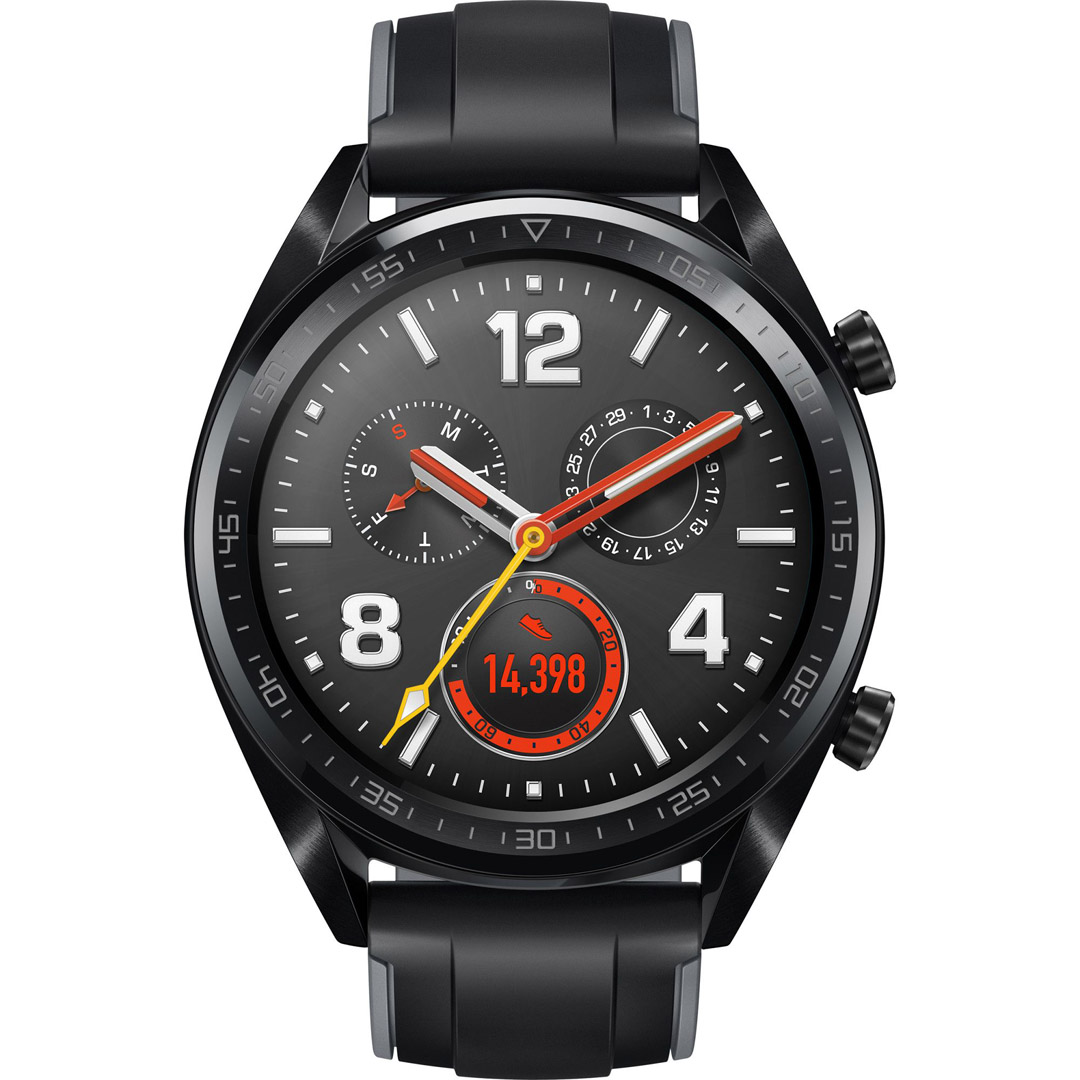 Huawei Watch GT black stainless steel with graphi..