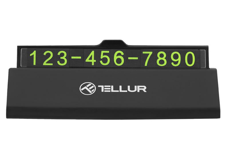 Tellur Temporary car parking phone number card bl..