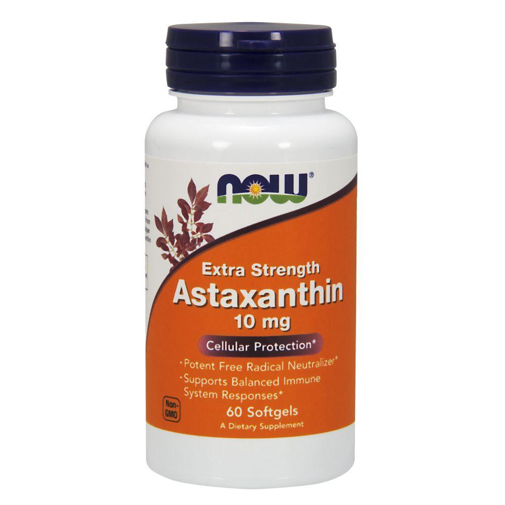 NOW Foods Astaxanthin 10mg 60 kaps.