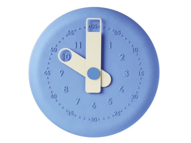 ViceVersa present clock 32cm sky-blue 15052
