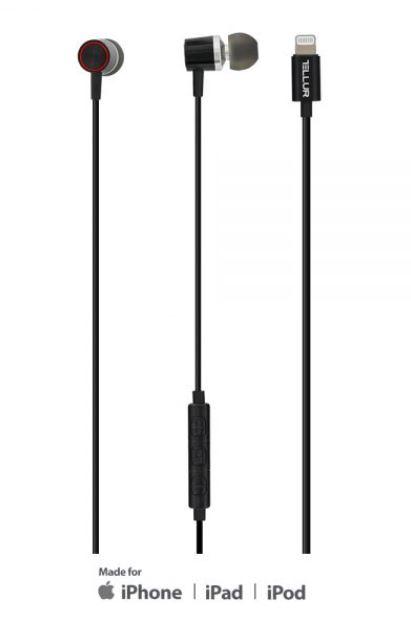 Tellur In-Ear Lightning Headset, MFi certified, b..