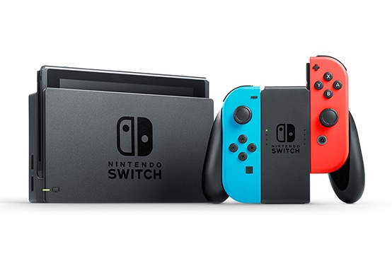 Nintendo Switch Neon Red and Neon Blue Joy-Con V2 ..