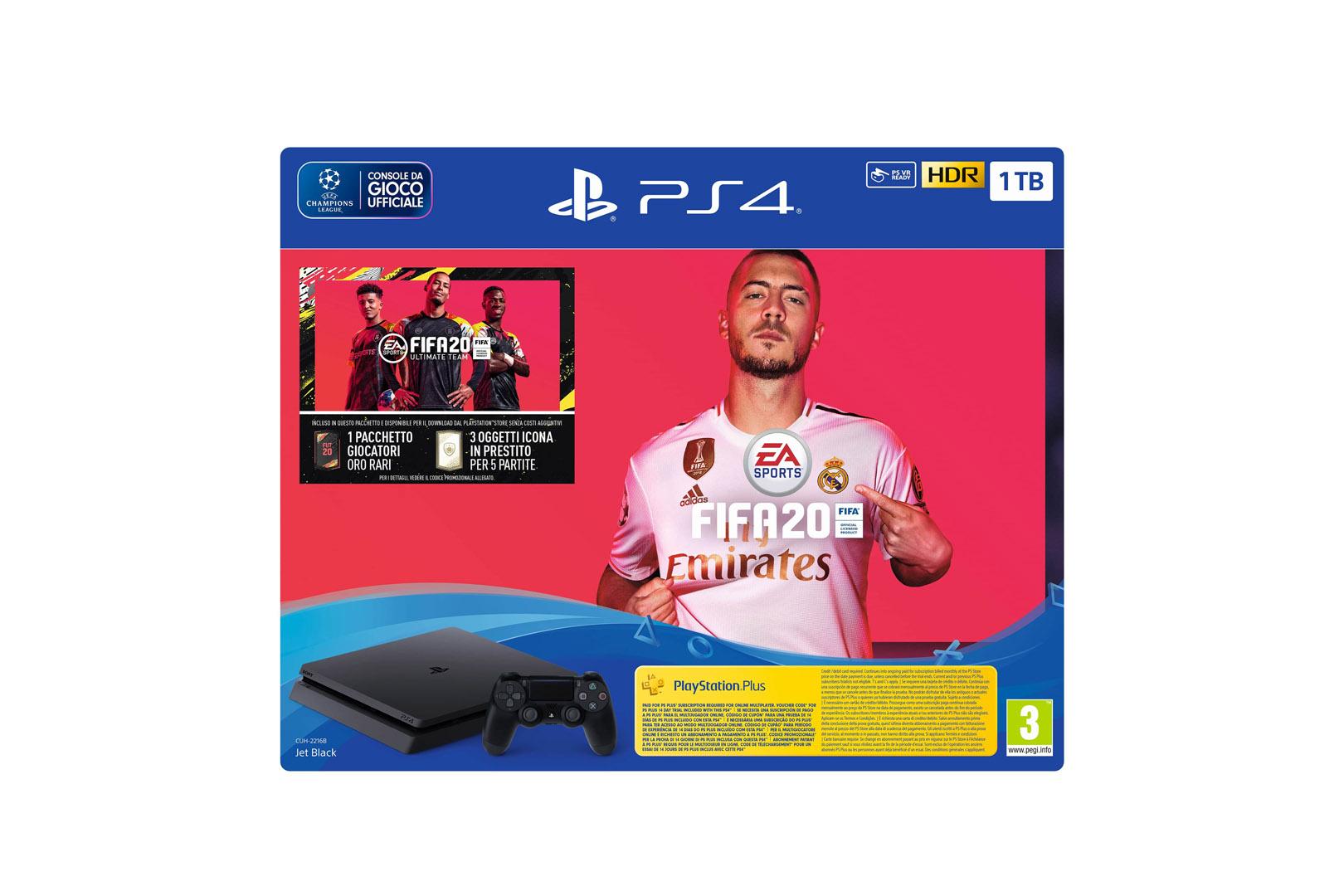 Sony Playstation 4 Slim 1TB (PS4) Black + FIFA 20