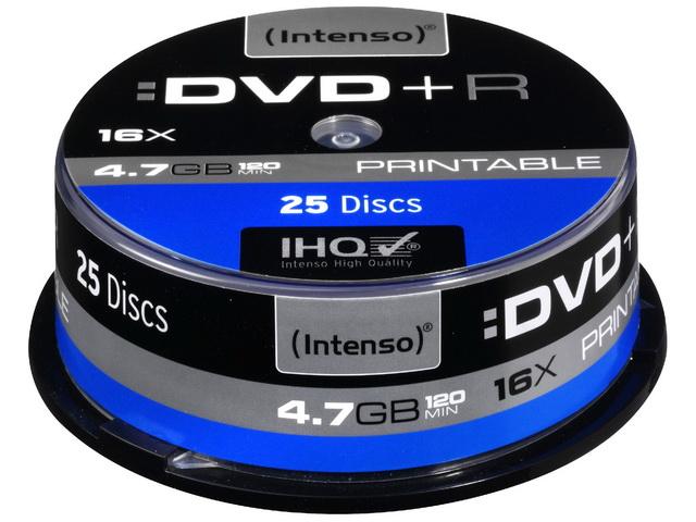 Intenso DVD+R Printable 4.7GB 25 Cake Box 4811154