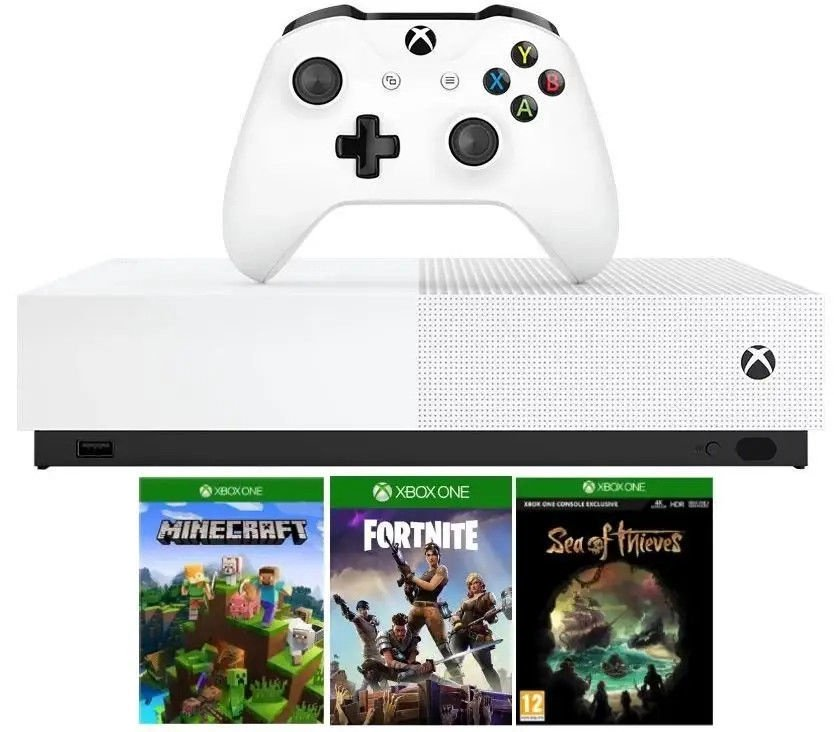 Microsoft Xbox One S 1TB All-Digital Edition whit..