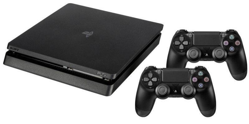 Sony Playstation 4 Slim 500GB (PS4) BLACK + Duals..