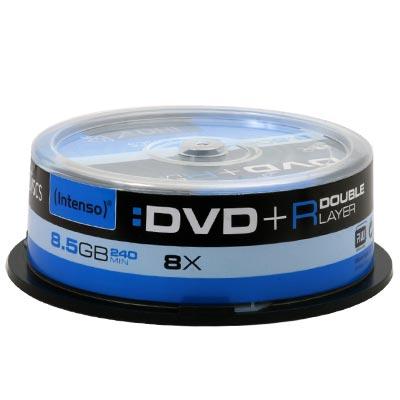 Intenso DVD+R Double Layer 8.5GB 25 Cake Box 4311..