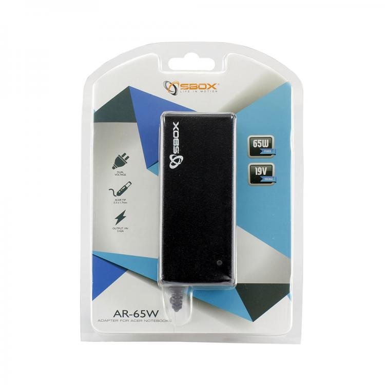 Sbox Adapter for Acer notebooks AR-65W